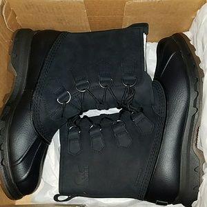NIB Sorel portzman classic waterproof boots black